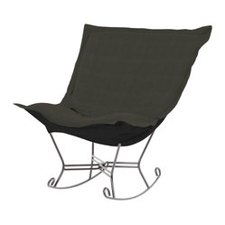 Sterling Scroll Puff Rocker - Titanium Frame