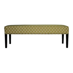 Sole Designs - Diane 'Eddy' Lime Bench - This contemporary and stylish nail-studded bench by Diane is designed to adapt to any room while providing additional seating. With a trendy print, this cute bench is the perfect way to update your space.