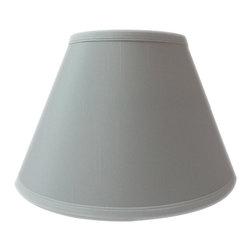 Home Concept - Threaded UNO Downbridge Lamp Shade - White - Home Concept Signature Shades feature the finest premium shantung fabric.