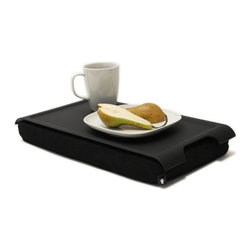 Bosign - Anti-Slip Laptray - Tray for your laptop, breakfast or dinner - Laptray Anti-slip, matte, rubber covered surface