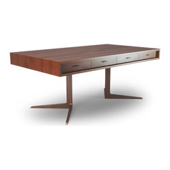 Thrive Home Furnishings - Baldwin Desk - Angles and More: Perfectly positioned angles make us happy, they should make you happy too.