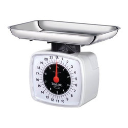 Taylor - Kitchen Food High Capacity Scale - Taylor high capacity food and kitchen scale with 22 lb/ 10 kg capacity in 2 oz/50 g increments.