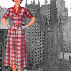 Buyenlarge - Wall Street Dress 1950 28x42 Giclee on Canvas - Series: 50's Retro