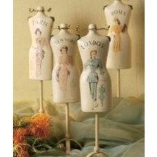 Amazon.com: Wilco Imports Vintage Style Dressform Decor Set of Four: Home & Gard