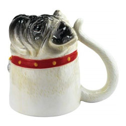 "Westland - 4.75"" Red Collared Pug Dog Coffee Mug Looking up with Innocent Eyes - This gorgeous 4.75"" Red Collared Pug Dog Coffee Mug Looking up with Innocent Eyes has the finest details and highest quality you will find anywhere! 4.75"" Red Collared Pug Dog Coffee Mug Looking up with Innocent Eyes is truly remarkable."