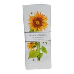 Sunflower Linen Napkins - Brighten your day with these sunny beauties!
