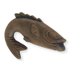Atlas - Fish 2.25 in. Metal Knob - 2204-R (Set of 10) - Manufacturer SKU: 2204-R. Projection: 1.25 in.. 2.25 in. L x 1.75 in. W