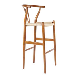 #N/A - The Wishbone Stool - The Wishbone Stool. The Wishbone Stool features a elliptical steam-bent backrest sculpted from solid beech wood.  Its unique design and sturdy construction will also last for years to come.