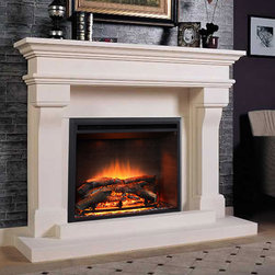 Marble Fireplace Mantels - Lyon - Available in two sizes, the Lyon marble  mantel is a traditional fireplace design for timeless homes.
