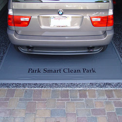 Frontgate - Heavy-duty Garage Mats - 14' - Heavy-duty, 50-mil vinyl flooring holds gallons of liquid and dirt. Strong, raised Snap-On edges are easy to install. Help prevent slips and falls by creating a dry walkway around the vehicle. Protect your garage floors from every drop of grease, dirt and grime that vehicles bring in with our Heavy-duty Garage Mats. Easy to install, simply unroll the mat and snap-on securely fitting edge pieces. The messy mud and slush brought into your garage is collected on the durable surface of these car mats, making cleanup a quick and painless task.. . .