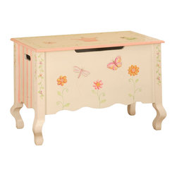 Teamson Design - Teamson Kids Princess and Frog Hand Painted Kids Toy Chest/Box - Teamson Design - Toy Boxes and Chests - W7462A. This is a hand painted Princess and Frog themed children's toy chest. Now you can organize your child's toys with a beautifully themed toy chest!
