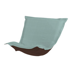 Howard Elliott - Sterling Breeze Puff Chair Cover - Extra Puff Slipcovers in Sterling are a great way to get a fresh new look without the expense of buying a whole new chair! Puff Covers fit Scroll and Rocker frames. This Sterling cushion features a linen-like texture in a soothing blue color. This Sterling Breeze piece is 100% Polyester finished in a soft burlap light blue breeze color. 40 in. W x 49 in. L x 1 in.