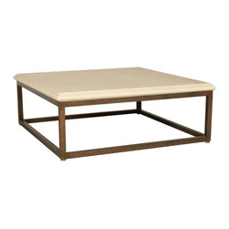 """Plano Coffee Table Base - Plano Coffee Table Base (Sq) (S). Style no: CT96781. 42""""w x 42""""d x 16""""h. Plano Coffee Table Base (Sq) (L). Style no: CT96782. 48""""w x 48""""d x 16""""h. Plano Coffee Table Base (Rect) (S). Style no: CT96784. 48""""w x 36""""d x 16""""h. Plano Coffee Table Base (Rect) (L). Style no: CT96786. 60""""w x 40""""d x 16""""h. Material: Metal. Finish: As specified. Top Options: Glass, stone, wood. Custom sizing available. Designed by Shah Gilani, ASFD."""