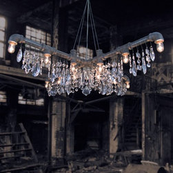 McHale X Chandelier - New by Michael McHale Designs in 2013. Perfect for over square or round tables, The industrial Style Tribeca Collection X-Chandelier.