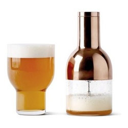 MENU - Menu Beer Foamer by Norm Architects - The Beer Foamer gets you as close to the Pub experience as you can without leaving your home. Denser beer foam will significantly increase the taste, aroma and feeling of the beer - just like beer fresh from the tap.
