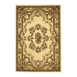 """Kas Rugs - Area Rug: Aubusson Ivory 2' 3"""" x 3' 3"""" - Shop for Flooring at The Home Depot. This series uses heat-set yarns and hand carved with specific attention to detail. This line features classic Aubusson floral patterns, a look usually found only in traditional hand knotted collections. This timeless classic has been designed with today's colors in mind, bringing a beautiful blend of yesterday and today in your home."""