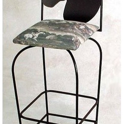 "Grace - Equestrian Counter Stool - Features: -Painted according to your choice of metal finish .-Ships fully assembled .-Dimensions: 16"" W x 19"" D x 44"" H .-Seat Height: 24"" .-Artistically crafted in wrought iron .-Available in 12 designer metal finishes .-Stools with 24"" seat height have 1 foot rung, stools with 30"" seat height have 2 foot rungs. About Grace Collection: Grace Manufacturing is a metal and wrought iron furniture manufacturing company located in Rome, GA. The company has been in business for 25 years and continues to employ skilled artisans and craftsmen. In addition to their state of the art manufacturing equipment they still assemble and finish many products by hand. Many items in the Grace Collection are fully hand made or hand painted. With products ranging from barstools, counter stools, and dinettes to wrought iron beds, hanging potracks, bakers racks and more, Graces line meets all professional and home needs. By implementing unique styles and ideas to traditional products, Grace has created an exceptional balance between creativity and practicality. Their design styles range somewhere between whimsical, neo classic and traditional, thus creating a truly astonishing decor for any inside space."