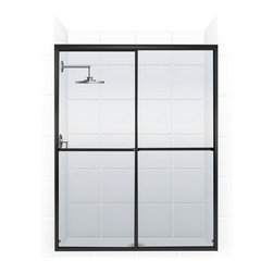 Challenger Series Bypass Shower Door (ORB/CLEAR) by Coastal - The Challenger - the modern, sleek styling of this series of bath enclosures is enhanced by a cleaner, smoother more stylish towel bar.