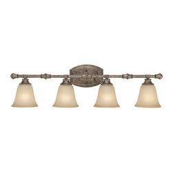 Capital Lighting - Capital Lighting 1334-287 4 Light Vanity Fixture - Capital Lighting 4 Light Vanity Fixture from the Belmont Collection