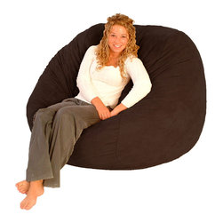 Comfort Research - FufSack Chocolate Brown Polyester Microfiber Bean Bag Chair - Ideal for teens,dorm rooms,and dens,this comfortable FufSack beanbag chair features a luscious brown microfiber cover. Filled with durable foam for a luxurious feel,this bean bag chair offers a personal fit anyone will appreciate.