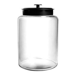 Anchor Hocking - 2.5gal Montana Jar w Metal Cvr - 2.5 Gallon Montana Jar with Metal Cover, Clear.