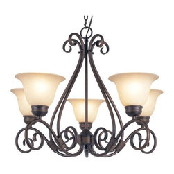Trans Globe Lighting - Trans Globe Lighting 70225 ROB Chandelier In Rubbed Oil Bronze - Part Number: 70225 ROB