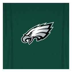 Sports Coverage - NFL Philadelphia Eagles MVP Football Shower Curtain - Features: