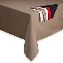 Benson Mills Inc - Basics Solid Tablecloth - Cater to any occasion with this solid, easy-to-maintain tablecloth. Designed to protect your table from accidental spills, this tablecloth adds a stylish touch to your everyday dining experience.