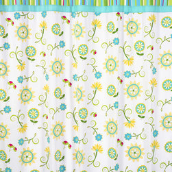 Sweet Jojo Designs - Sweet Jojo Designs Turquoise and Lime Layla Shower Curtain - Add a touch of style and a splash of color to your bathroom with this designer shower curtain. Pair with coordinating Sweet JoJo Designs room accessories to complete the look and feel of your favorite theme.