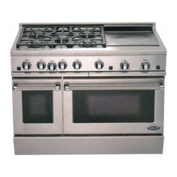 Gas Range - One of the original companies to begin marketing their 'commercial' ranges to the public - a super range for a large active kitchen.