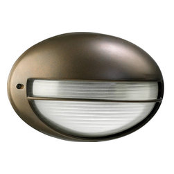 Quorum - 1-Light Outdoor Bulkhead Wall Light Oiled - Oiled bronze finish -- Give your traditional space a complementing accent or your modern home an interesting element with this wall light. Its tasteful finish adds a tasteful touch to any room.