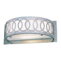 Trans Globe Lighting - Trans Globe Lighting MDN-903 Olympic Half Round Wall SconceModern Collection - Pass on the flame with the Trans Globe collection of Olympic light dEcor. Joined circles crown this fixture while frosted glass diffuser softens brightness.
