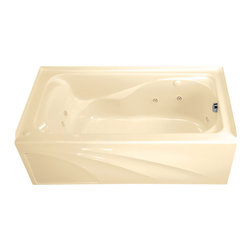 American Standard - Cadet 60 inch x 32 inch EverClean Whirlpool Tub with Left Drain and Integral - American Standard 2776.218WC.021 Cadet 60 inch x 32 inch EverClean Whirlpool Tub with Left Drain and Integral Apron in Bone.