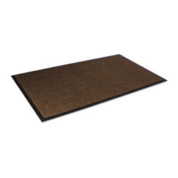 Crown - Crown Super-Soaker Wiper Mat w/Gripper Bottom, Polypropyl, 34 x 119, Dark Brown - Need help getting a grip on dirt and moisture? Loop pile polypropylene fibers remove dirt and moisture, keeping your building clean and safe. The no-slip bottom creates a secure grip to carpets and smooth floors. Equipped with rubber backing and edges. Vacuum or professionally clean.