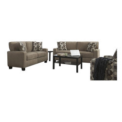 Serta by True Innovations - Serta 2 Piece Santa Cruz Sofa Set in Platinum Fabric - Serta by True Innovations - Sofa Sets - CR43534CR43529PKG