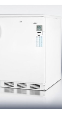 """Summit - CT66LBIMED 24"""" 5.1 cu.ft. Capacity Built In Medical Refrigerator/Freezer  Cycle - SUMMIT39s CT66LBIMED is a specially featured refrigerator-freezer for built-in installation in medical and laboratory institutions"""