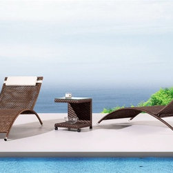 Havana Patio Chaise Lounge - This contemporary chaise lounge will bring style and comfort to your outdoor decor. Minimum order: 2 lounge chairs.