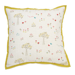 Little Auggie - Rabbit Patch Quilted Decorative Pillow Cover - Rabbit Patch Quilted Decorative Pillow