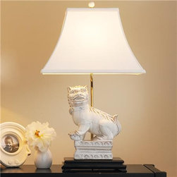 Shop White Foo Dog Table Lamp Products On Houzz