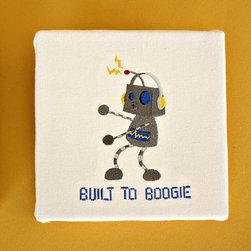 Baby's Nursery, Child's Space, Robot Art -