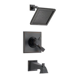 Delta - Dryden Monitor 17 Series Pressure Balance Tub and Shower Trim - Delta T17451-RB Dryden Monitor 17 Series Pressure Balance Tub and Shower Trim with Volume Control, Raincan Showerhead and Diverter Tub Spout in Venetian Bronze.