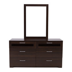 None - Jasper Coffee Double Dresser - The Jasper double dresser features a solid wood frame with a beautiful espresso finish. The straightforward design and dark finish make this piece a perfect storage solution to your home.
