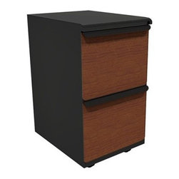 Mobile Pedestal with Laminate Front File Drawers - 19 in. - When you need extra file storage, the Mobile Pedestal with Laminate Front File Drawers - 19 in. will come to the rescue. The pedestal has sturdy steel construction and two roomy file drawers that include adjustable hanger bars.