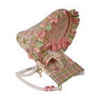 Hoohobbers - Hoohobbers Baby Rocker - Ballerina - 271-71 - Shop for Baby Bouncers and Jumpers from Hayneedle.com! Little girls will love the design of the Hoohobbers Baby Rocker - Ballerina. The baby rocker's frame is made from virtually indestructible solid polypropylene with a full hood made from removable fabric in an adorable ballerina-themed print. The pink-and-green multi-checked rocker swings gently from front to back and you can adjust the range of the rocker's movement as desired by rotating the stabilizing feet. This rocker is water-resistant since there are no metal parts so it's great for days spent outdoors. The removable toy bar will divert your child with its pink spinning characters. The Hoohobbers Baby Rocker - Ballerina folds up to a slim 5 inches for easy portability and it's simple to assemble with the snap-together pieces. All fabric is machine-washable. Includes 1-year warranty. Weight capacity: 25 pounds. Sling dimensions: 14W x 24D inches.About HoohobbersBased in Chicago Hoohobbers has designed and manufactured its own line of products since 1981 beginning with the now-classic junior director's chair. Hoohobbers makes both hard goods (furniture) and soft goods. Hoohobbers' hard goods are not your typical furniture products; they fold are lightweight and portable and are made to be carried by children all around the house. Even outdoors Hoohobbers' hard goods are 100 percent water-safe. At the same time they are plenty durable and can take the abuse children often give. Hoohobbers' soft goods are fabric items ranging from bibs to bedding from art smocks to Moses baskets.Hoohobbers' products are recognized by independent third parties for their quality and performance. Hoohobbers has received Best Design Awards from America's Juvenile Products Association each time selected from more than 20 000 products. Hoohobbers has also received the Parents' Choice Award and no Hoohobbers product has ever been subject to consumer recall. Furthermore the co