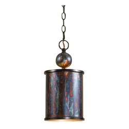 Uttermost Albiano 1 Light Bronze Mini Pendant - Oxidized bronze finish with a antiqued silver inside. Complex tonalities of metallic oxidation enrich these classic, simple shapes.