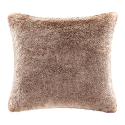 Madison Park Signature - Madison Park Signature Coyote Faux Fur Pillow - Indulge in luxury with our premium faux fur decorative pillow. The faux fur is exceptionally soft and has the warmth and texture of real fur. It adds a glamorous accent to your home. Comes in an array of animal prints. Face: 60% acrylic, 20% Modacrylic, 20% polyester, 550gsm faux fur Reverse: 100% polyester micro fur, 220gsm Filling: 100% polyester