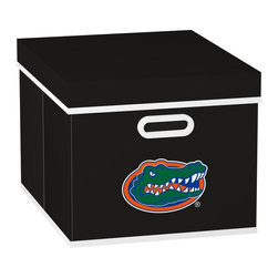 MyOwnersBox - MyOwnersBox Closet Organization College STACKITS University of Florida 12 in. x - Shop for Storage & Organization at The Home Depot. The MyOwnersBox 10 in. x 12 in. x 15 in. University of Florida College STACKITS Stackable Black Fabric Storage Cube has an attractive team embroided logo that looks great in your storage area. Made of sturdy non-woven polypropylene and reinforced with composite wood this storage cube has a collapsible design and folds out to form a perfect bankers box size that fits letter and legal sized folders and hanging files . Great for adding team spirit to your office or home office as well as tight spaces in your closet or college dorm room. The storage cube is also ideal for storing clothing or small toys in your children's room or laundry room. The lid is reinforced to allow stacking of 3 or more storage cubes and each comes with two reinforced plastic handles for easy mobility. Color: Black.