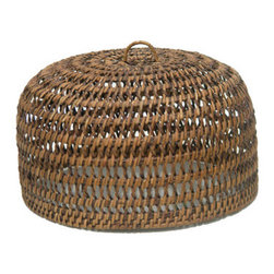 Castle Food Dome/Cake Cover - This loose-woven, wicker food dome offers a sneak peek of good things to come.