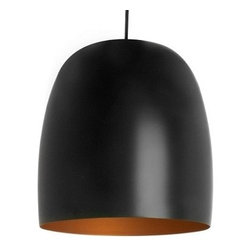 Leitmotiv Kalimero Modern Pendant Light in Black/Gold - Leitmotiv Kalimero Modern Pendant Light in Black/GoldThe Kalimero Pendant Light by Leitmotiv is manufactured from aluminium and has a white exterior with a bright orange interior. The sleek and simple design of this light combined with the modern material and colour makes it a great accessory for any home. This stylish light is sold individually, but would look perfect in a set to create a statement and give a contemporary and modern look to your home.Bulb Type: 1x E26, Max. 40W (not included)