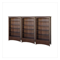 Da Vinci - DaVinci Roxanne 5 Shelf Wall Bookcase in Espresso - Da Vinci - Bookcases - M5926QPKG - DaVinci Roxanne 5 Shelf Wood Bookcase in Espresso